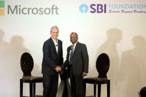 CSR, Microsoft, SBI Foundation, BFSI, Collaboration