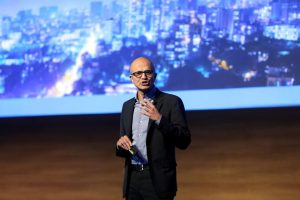 Microsoft boss Nadella trumpets cloud tie-up with India's Reliance