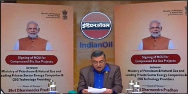 Indian Oil signed MoU with MoPNG for upcoming CBG Plants