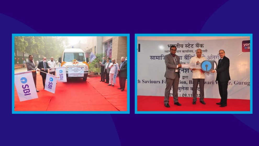 SBI donates an ambulance to NGO Earth Saviours Foundation