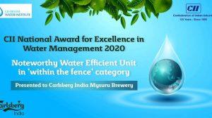 Carlsberg India's Mysuru brewery Recognized at the CII National Award