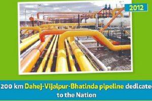 GAIL's another milestone-dedicated Dahej-Vijaipur-Bhatinda pipeline