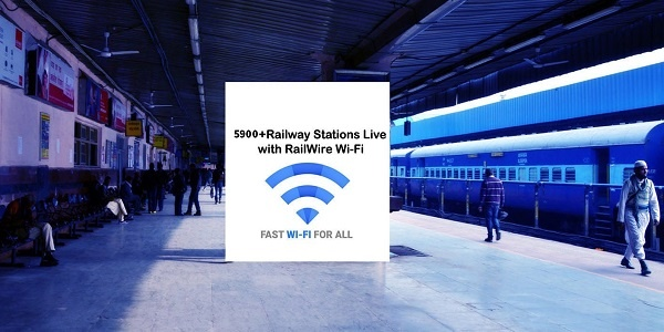 RailTel's paid Railwire WiFi reached approx 6,000 railway stations