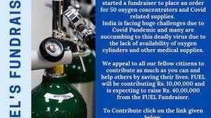 FUEL Trust starts fundraiser for 50 oxygen concentrators