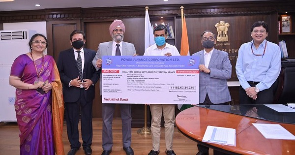 PFC pays interim dividend of Rs 1182.63 crore to Govt for FY 2020-21