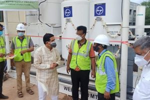 L&T set up & commissioned the production of 1000 ltrs of oxygen production plants